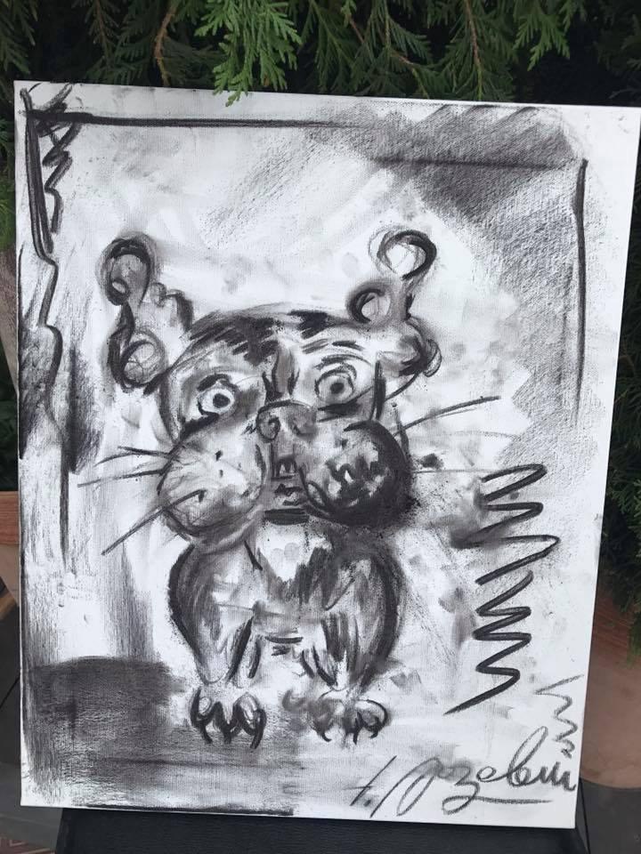 Друг Ляшко нарисовал собачку и хочет продать это за тысячу долларов. Вы бы такое купили?