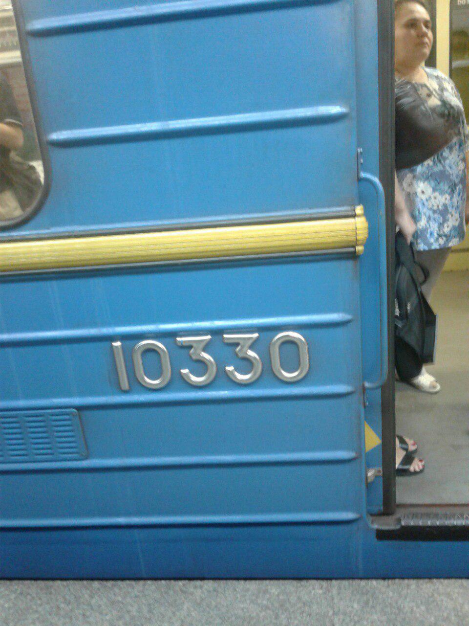 В Киевском метро появилась кричащая антиукраинская надпись (фото)