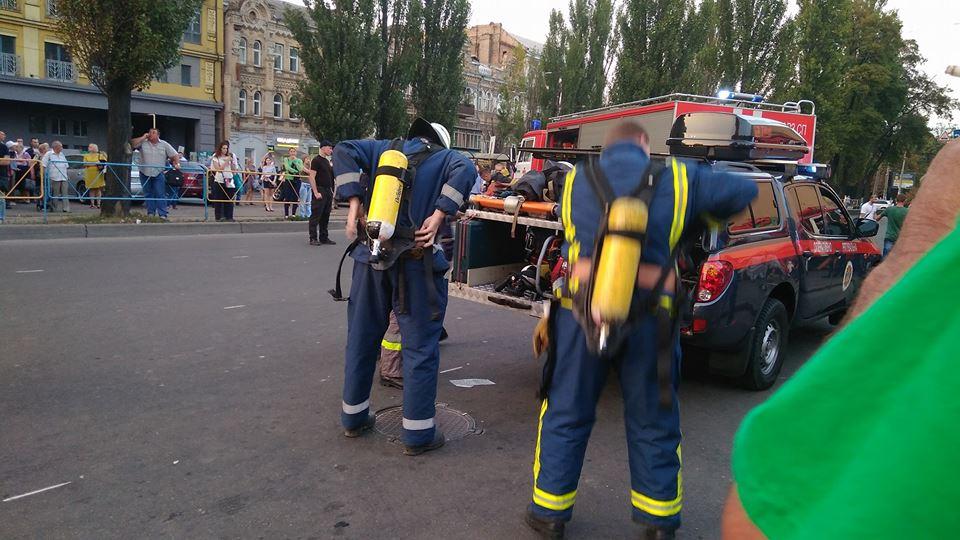 Мат, крики, истерика: хроника пожара в тоннеле киевского метро