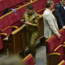 Савченко явилась в Раду в космическом комбинезоне цвета хаки