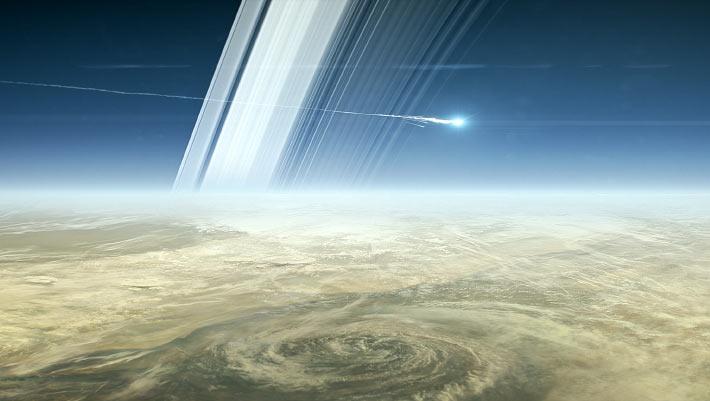 В атмосфере Сатурна сгорел самый известный спутник NASA