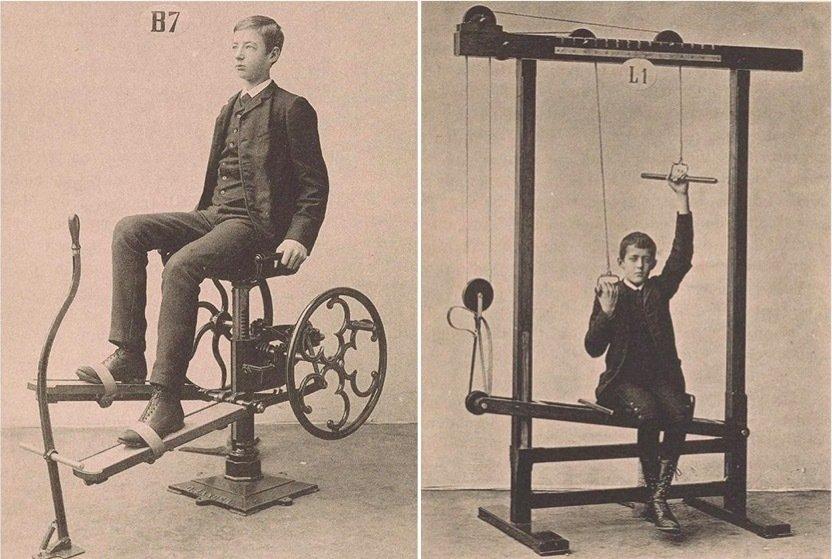 Тренажерный зал и фитнес: как это выглядело более 100 лет назад. Только не смейтесь