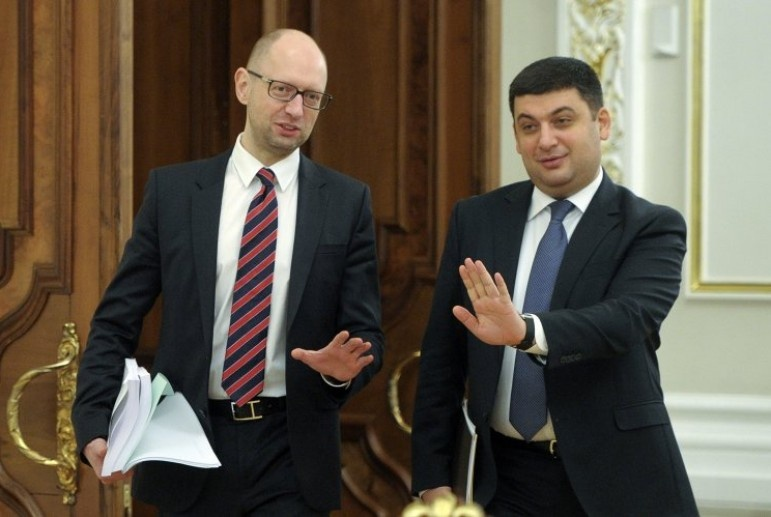 Прогулки участились: о чем договаривались Гройсман и Яценюк на улицах вечернего Киева?