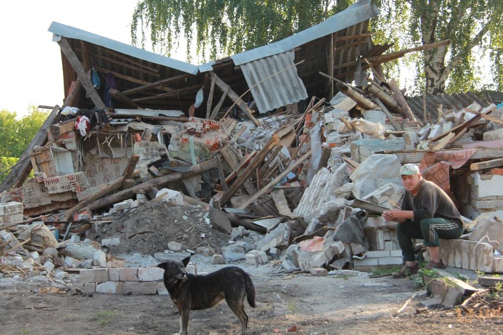 В поместье под Киевом попал снаряд. Появились подробности