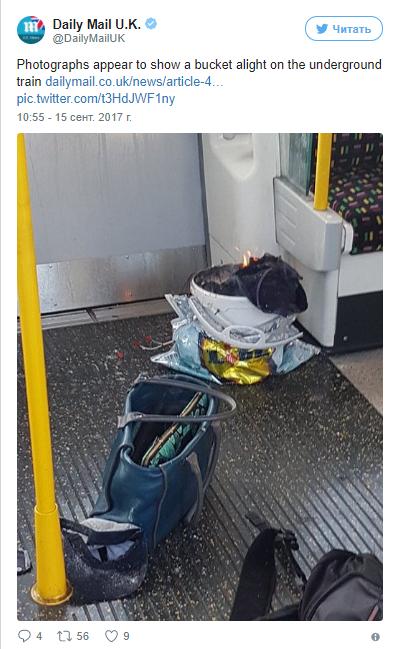 В Лондонском метро прогремел взрыв. Есть пострадавшие. Появились первые фото