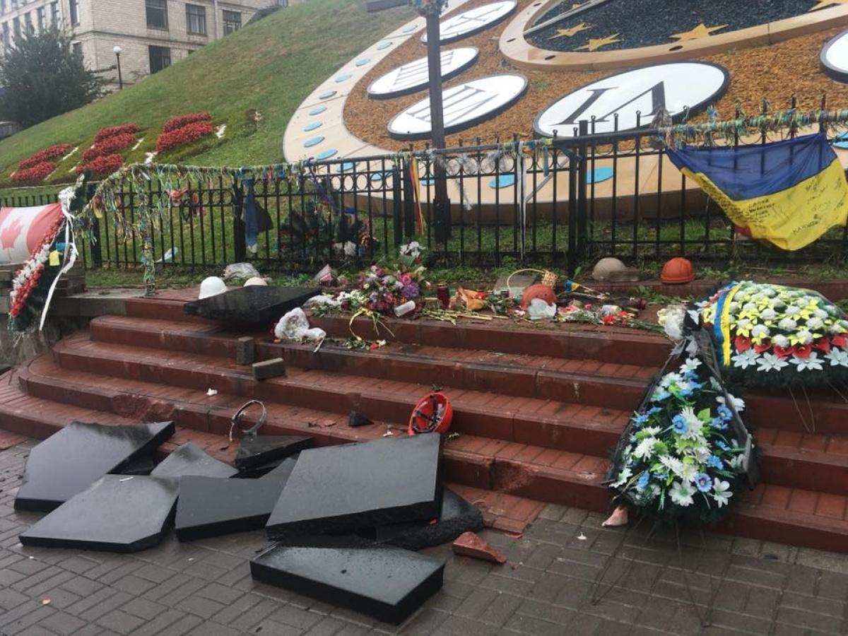 СКАНДАЛ! Узнайте что сделали с символом Майдана! Рука Кремля?
