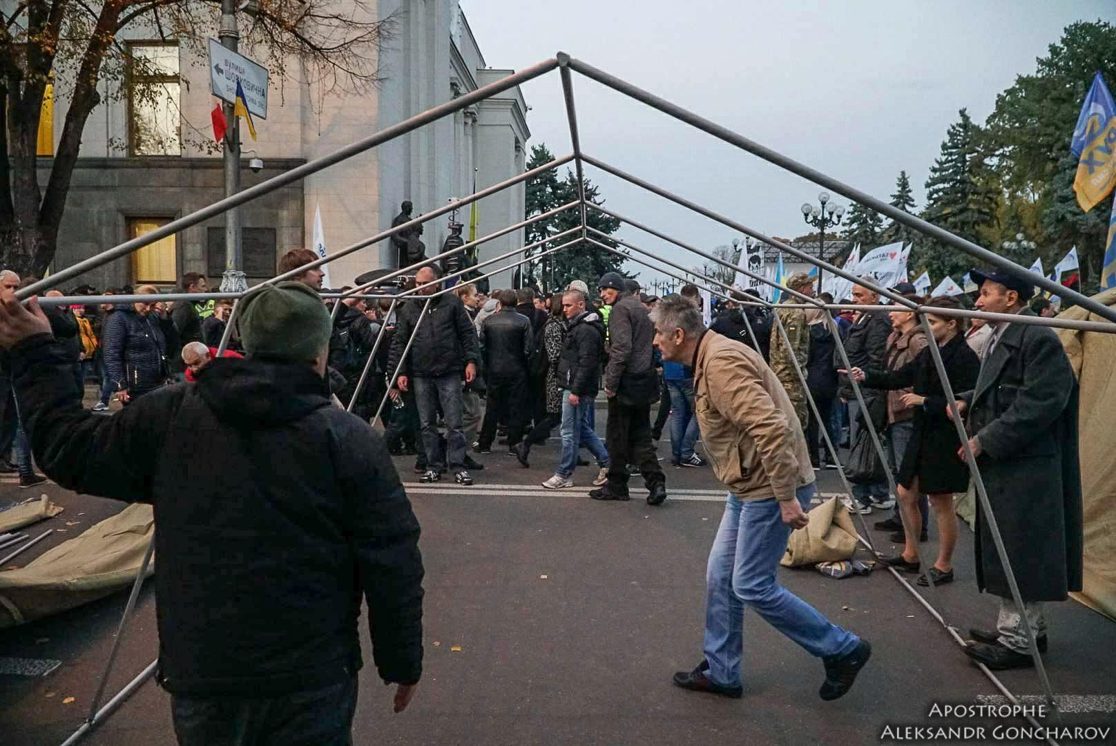 Чорновил: Саакашвили распорядился устанавливать палатки, а послушные хохлы бросились все выполнять